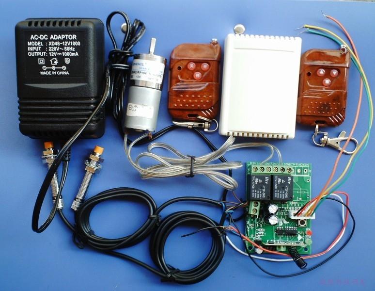 12伏减速电机正反转遥控开关(带限位)接线图